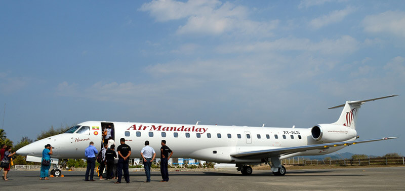 flight from yangon to bagan