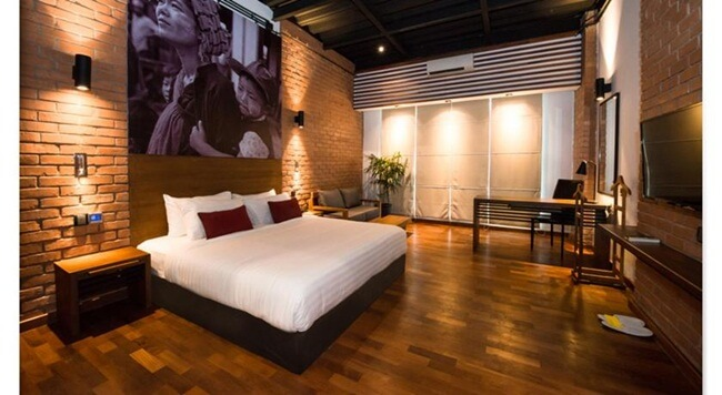 One of the Loft hotel's rooms