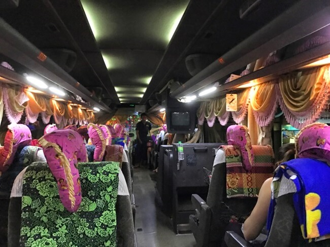 VIP bus with more space and comforts